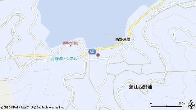 大分県佐伯市蒲江大字西野浦406周辺の地図
