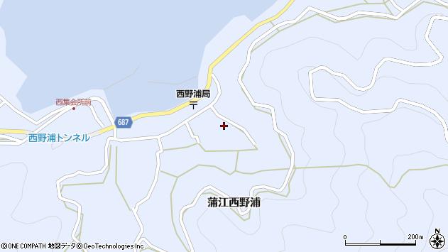 大分県佐伯市蒲江大字西野浦1264周辺の地図