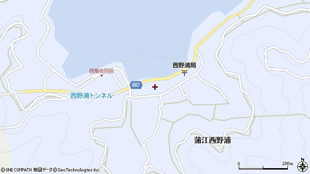 大分県佐伯市蒲江大字西野浦1135周辺の地図