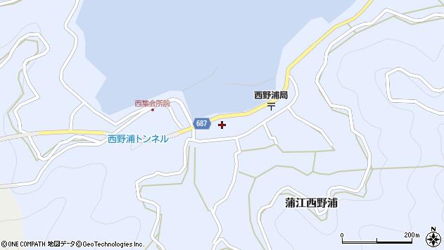 大分県佐伯市蒲江大字西野浦1131周辺の地図