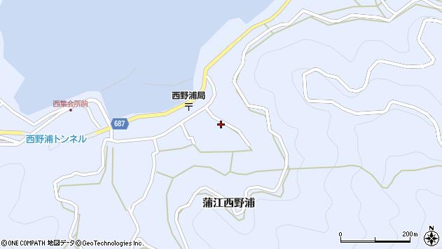 大分県佐伯市蒲江大字西野浦1263周辺の地図