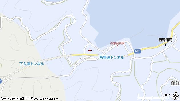 大分県佐伯市蒲江大字西野浦315周辺の地図