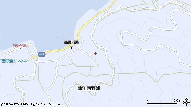 大分県佐伯市蒲江大字西野浦1278周辺の地図