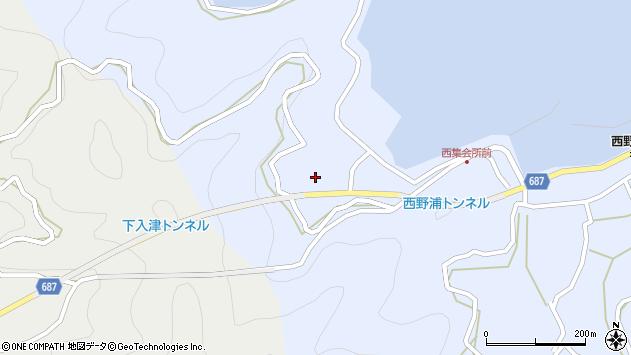 大分県佐伯市蒲江大字西野浦226周辺の地図