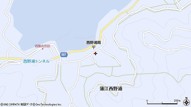 大分県佐伯市蒲江大字西野浦1243周辺の地図