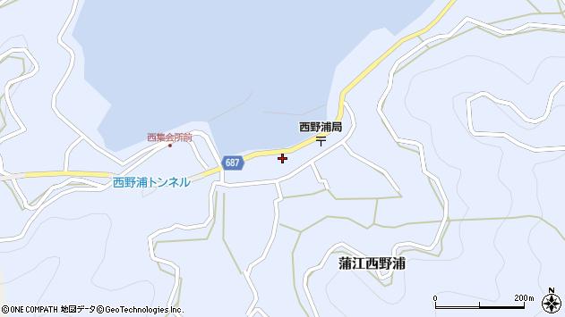大分県佐伯市蒲江大字西野浦1144周辺の地図