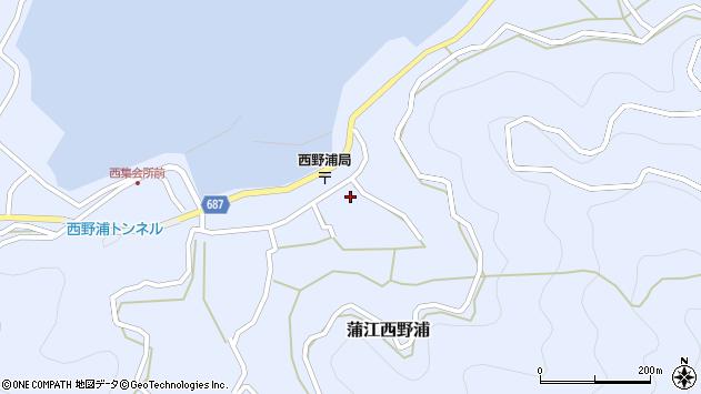 大分県佐伯市蒲江大字西野浦1249周辺の地図