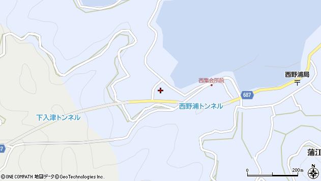 大分県佐伯市蒲江大字西野浦309周辺の地図