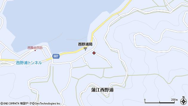 大分県佐伯市蒲江大字西野浦1255周辺の地図
