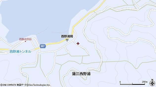 大分県佐伯市蒲江大字西野浦1261周辺の地図