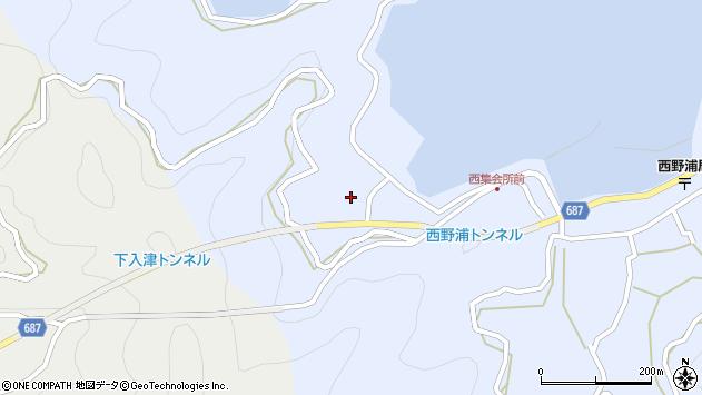 大分県佐伯市蒲江大字西野浦221周辺の地図