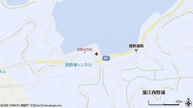 大分県佐伯市蒲江大字西野浦362周辺の地図