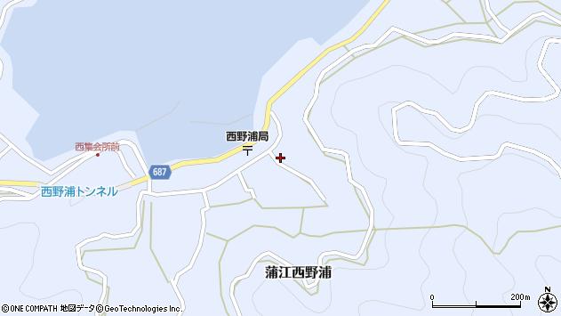 大分県佐伯市蒲江大字西野浦1254周辺の地図