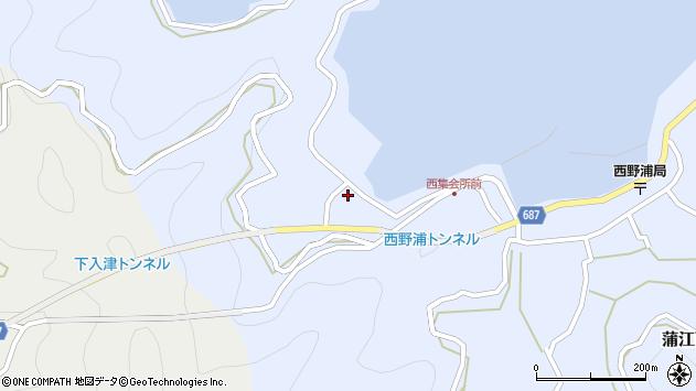 大分県佐伯市蒲江大字西野浦308周辺の地図