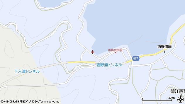 大分県佐伯市蒲江大字西野浦329周辺の地図