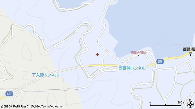 大分県佐伯市蒲江大字西野浦370周辺の地図