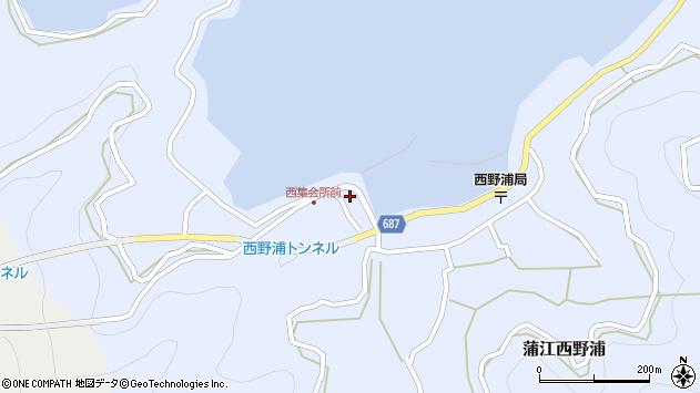 大分県佐伯市蒲江大字西野浦360周辺の地図