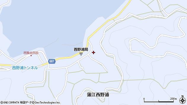 大分県佐伯市蒲江大字西野浦1256周辺の地図