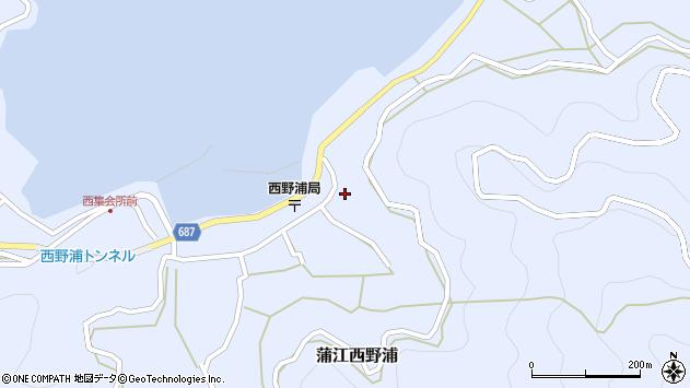 大分県佐伯市蒲江大字西野浦1635周辺の地図