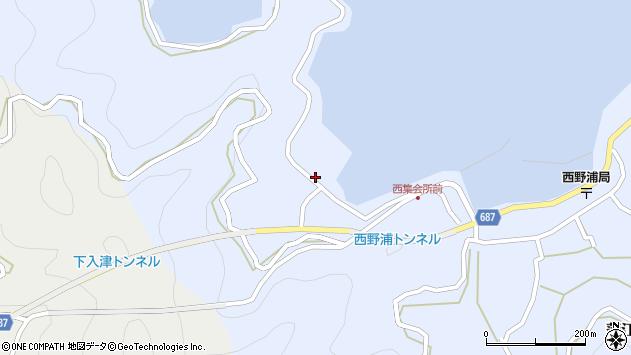 大分県佐伯市蒲江大字西野浦206周辺の地図