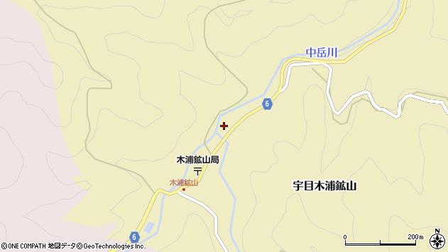 大分県佐伯市宇目大字木浦鉱山122周辺の地図