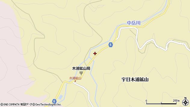 大分県佐伯市宇目大字木浦鉱山124周辺の地図