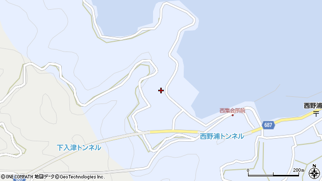 大分県佐伯市蒲江大字西野浦212周辺の地図