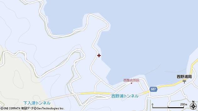 大分県佐伯市蒲江大字西野浦210周辺の地図