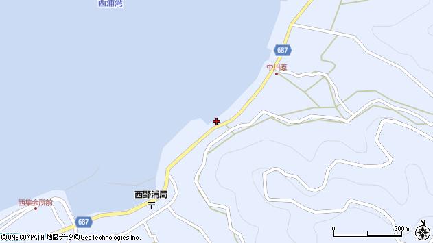 大分県佐伯市蒲江大字西野浦1654周辺の地図