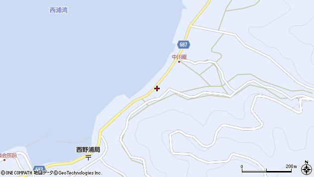 大分県佐伯市蒲江大字西野浦1659周辺の地図