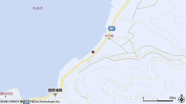 大分県佐伯市蒲江大字西野浦1655周辺の地図