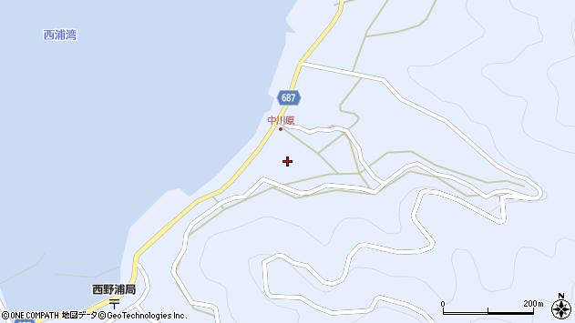 大分県佐伯市蒲江大字西野浦1698周辺の地図