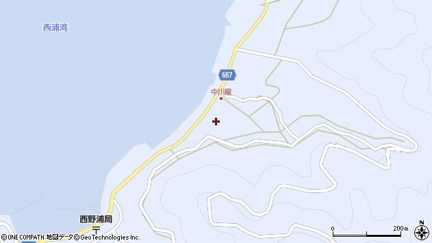 大分県佐伯市蒲江大字西野浦1683周辺の地図