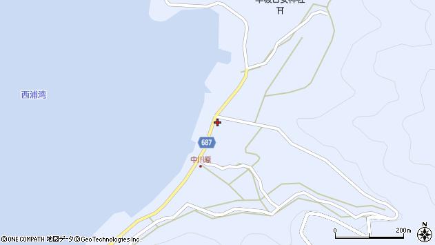 大分県佐伯市蒲江大字西野浦1987周辺の地図