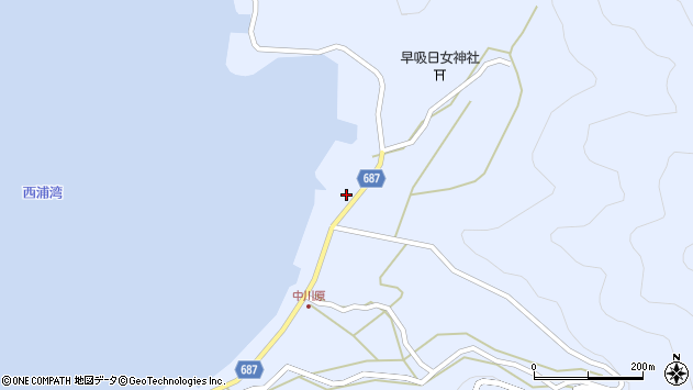 大分県佐伯市蒲江大字西野浦2199周辺の地図