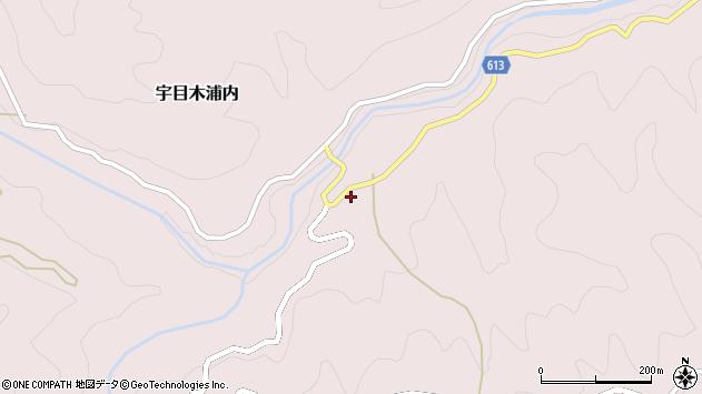 大分県佐伯市宇目大字木浦内287周辺の地図