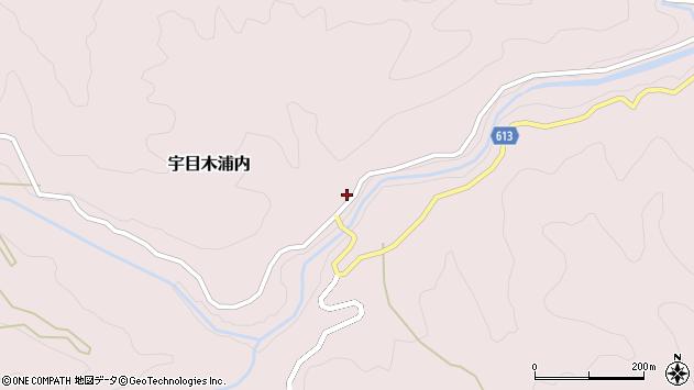 大分県佐伯市宇目大字木浦内527周辺の地図