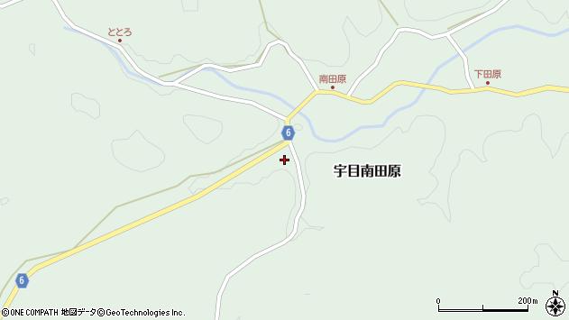 大分県佐伯市宇目大字南田原998周辺の地図
