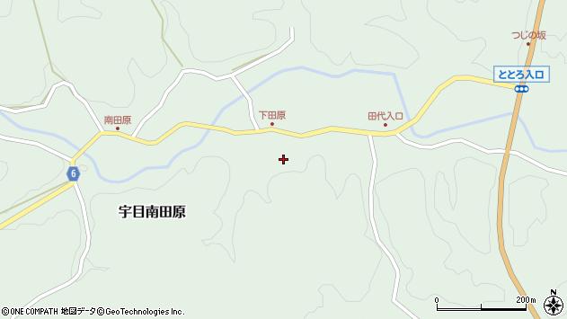 大分県佐伯市宇目大字南田原510周辺の地図