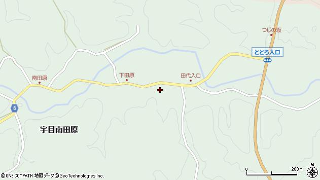大分県佐伯市宇目大字南田原212周辺の地図