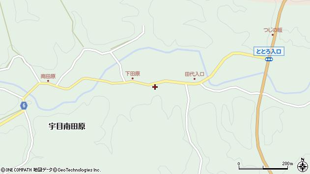 大分県佐伯市宇目大字南田原211周辺の地図