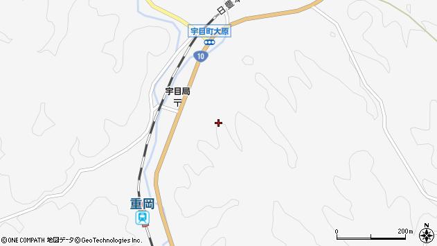 大分県佐伯市宇目大字大平2113周辺の地図