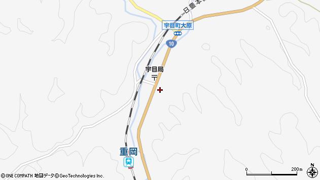 大分県佐伯市宇目大字大平周辺の地図
