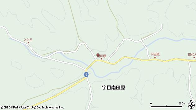 大分県佐伯市宇目大字南田原803周辺の地図