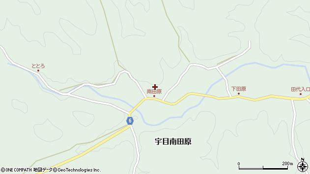 大分県佐伯市宇目大字南田原805周辺の地図