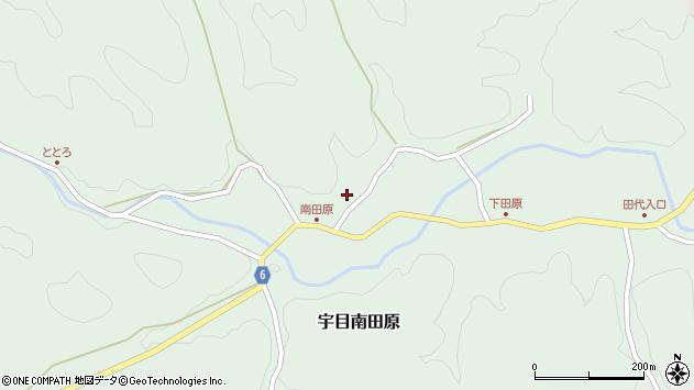 大分県佐伯市宇目大字南田原605周辺の地図