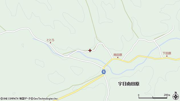 大分県佐伯市宇目大字南田原879周辺の地図
