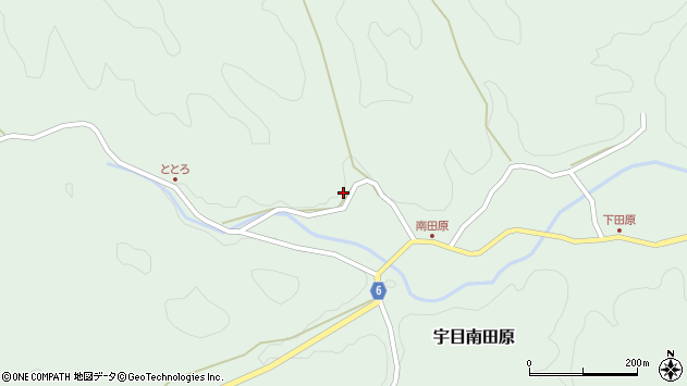大分県佐伯市宇目大字南田原881周辺の地図