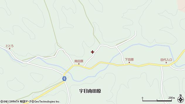 大分県佐伯市宇目大字南田原603周辺の地図