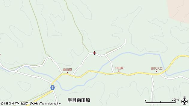 大分県佐伯市宇目大字南田原549周辺の地図